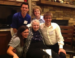 NJ Students with Millie Dresselhaus